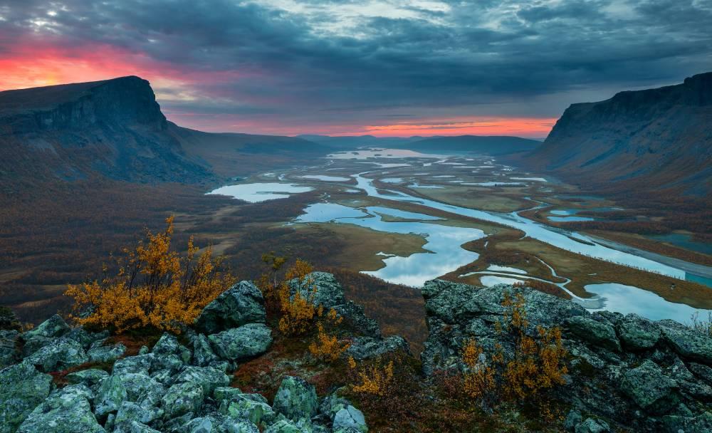 Sügisene vaade saamide püha mäe otsast