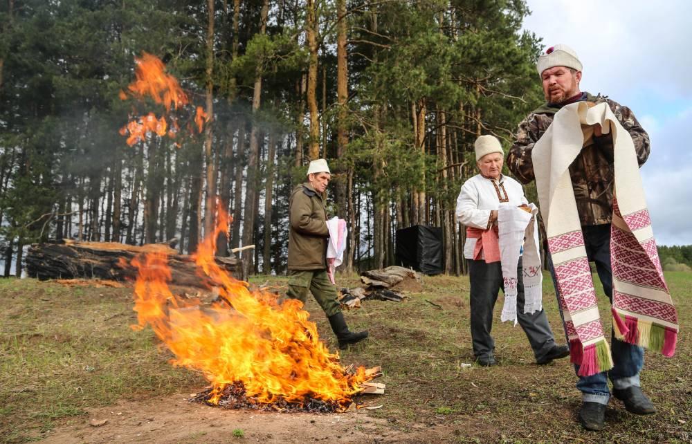 Удмуртский обряд у огня